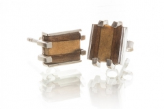 Studs Made From Wood and Silver