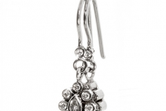 Earrings in 14ct White Gold With Natural Diamonds