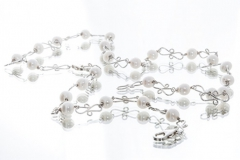Necklase Made From Silver and Fresh Water Pearls