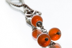 Necklase in Oxidised Silver With Carnelian