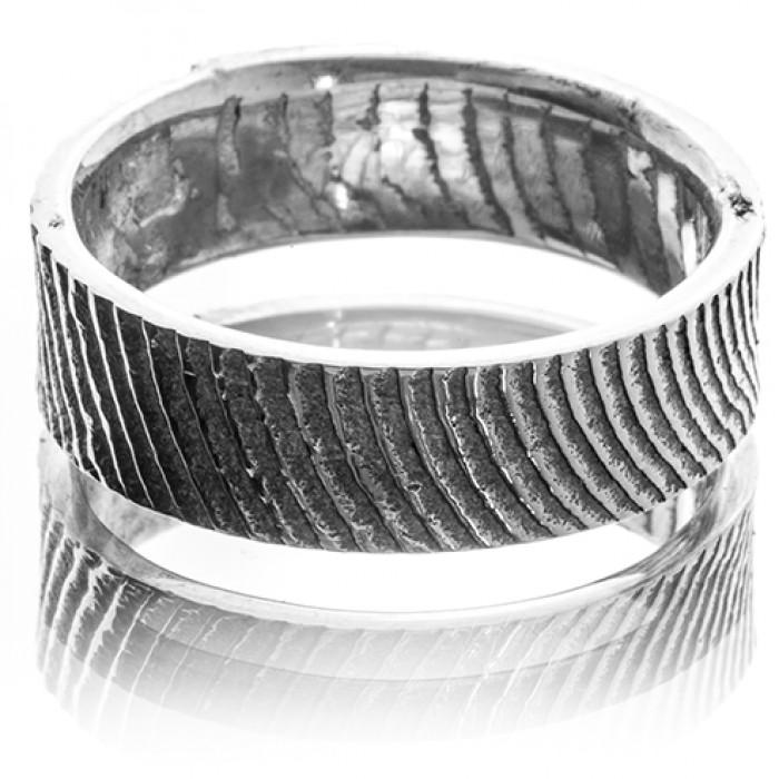 Silver Cuttlefish Men's Wedding Band