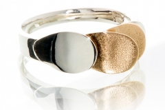 Silver and 9ct Gold Ring